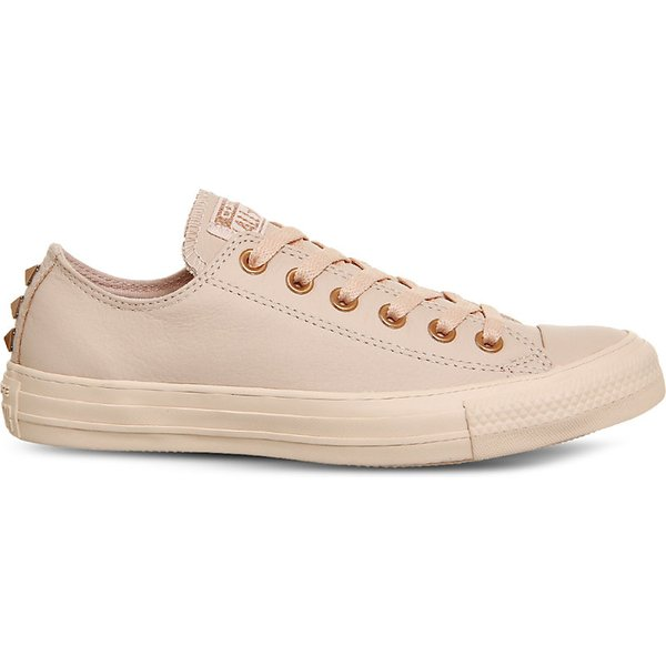 All Star low top studded leather trainers