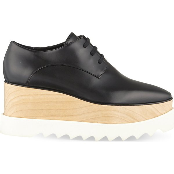Elyse Faux Glossed-leather Platform Brogues - Black Stella McCartney nBhK5Q6