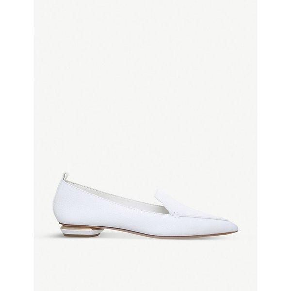 Beya Textured-leather Point-toe Flats - Pink Nicholas Kirkwood MWMWM