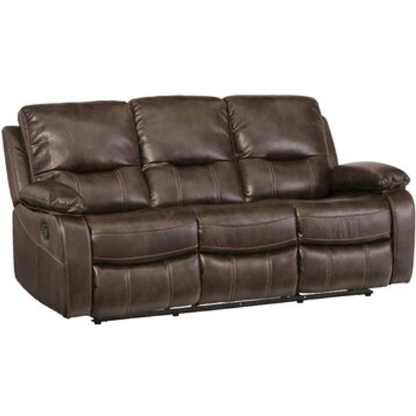 2. Valencia 3 Seater Reclining Sofa, Brown: £679.99, Wayfair
