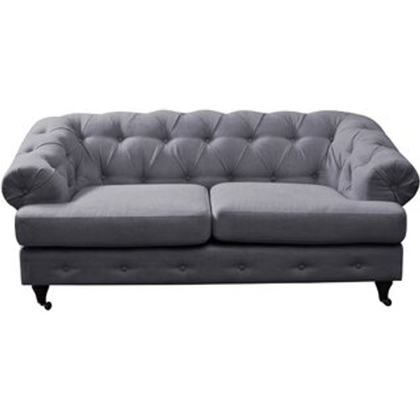 7. Washington 2 Seater Chesterfield Sofa, Gray: £703.99, Wayfair
