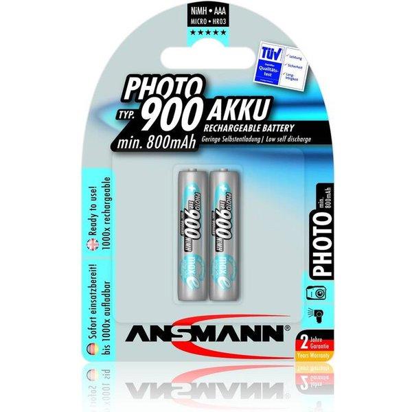 Accu LR03 (AAA) NiMH 1.2 V Ansmann 5030512 900 mAh 2 pc(s)