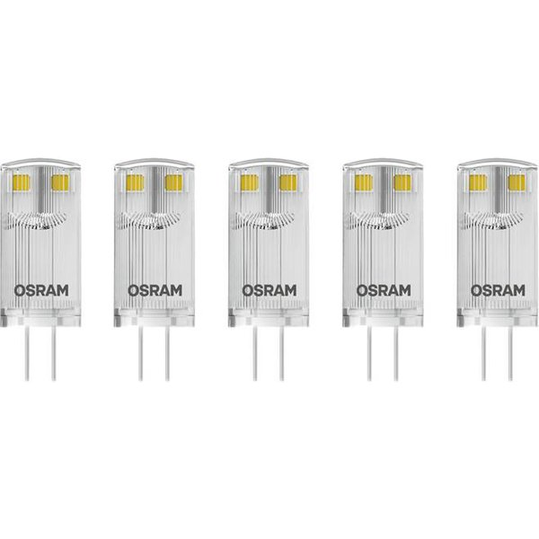 OSRAM LED EEC A++ (A++ - E) G4 à broches 0.9 W = 10 W blanc chaud (Ø x L) 12 mm x 33 mm 5 pc(s)