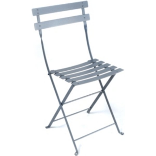 Chaise pliante Bistro / Métal - Fermob gris orage en métal