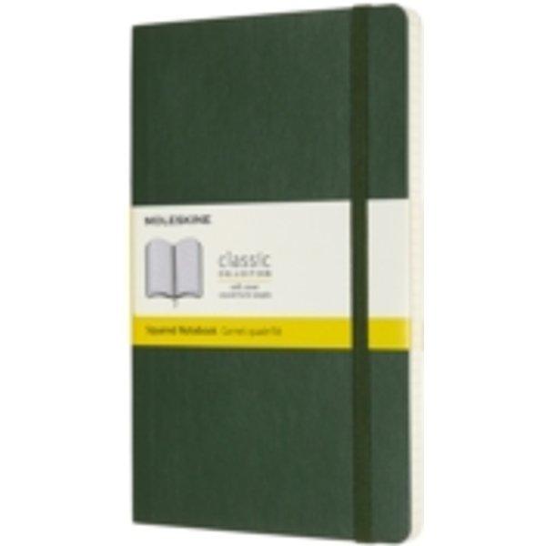 Moleskine Notizbuch Large/A5, Kariert, Myrtengrün