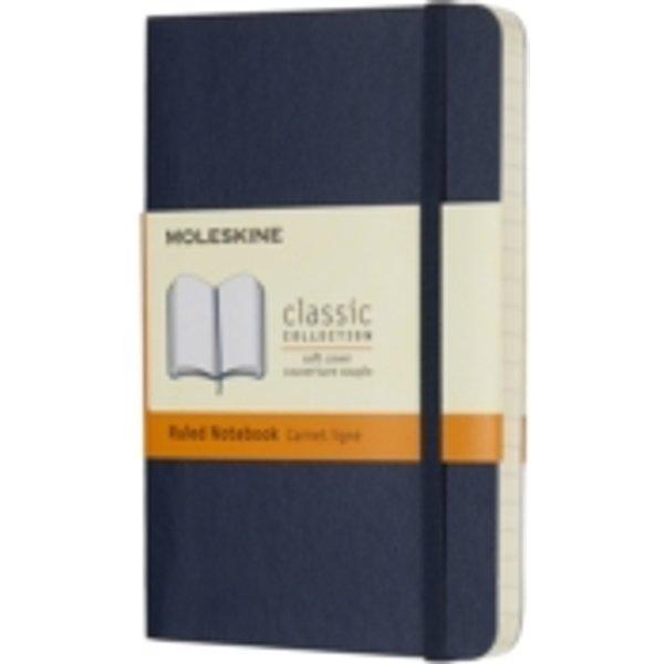 Moleskine Notizbuch P/a6, Liniert, Soft Cover, Saphir