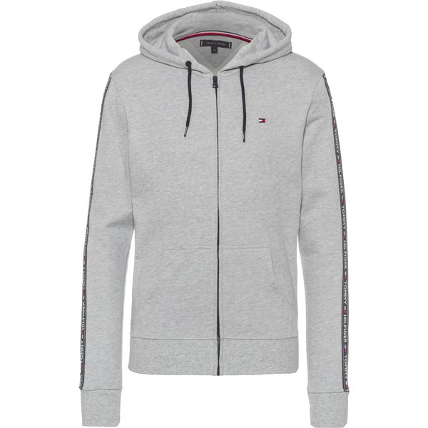 Tommy Hilfiger  Zip Logo Tapping Hoodie  in Grey