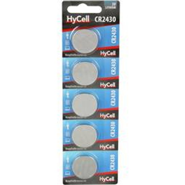HyCell CR2430 Knopfzelle CR 2430 Lithium 300 mAh 3V 5St