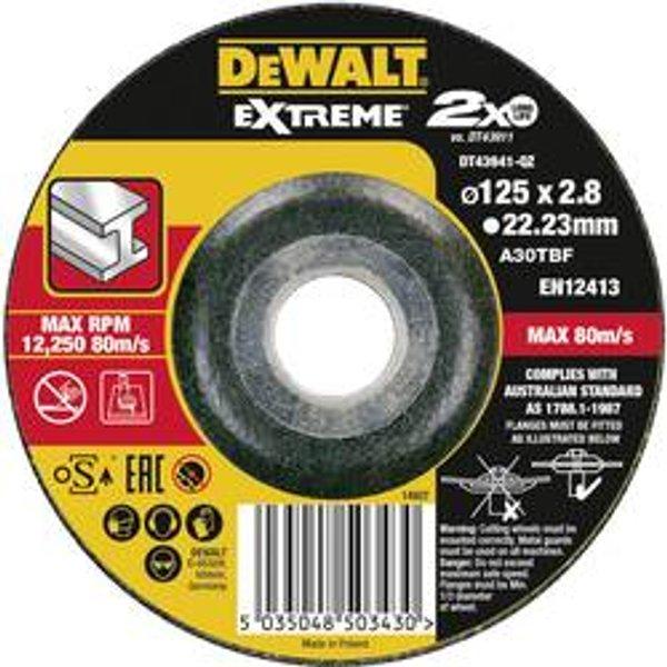 DeWalt EXTREME Trennscheibe DT43941 Metall, 125mm