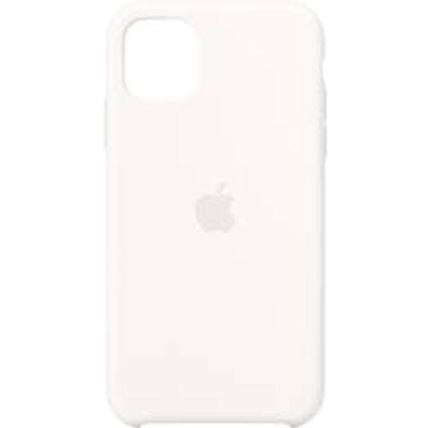 Apple Silikon Case Apple iPhone 11 Weiß