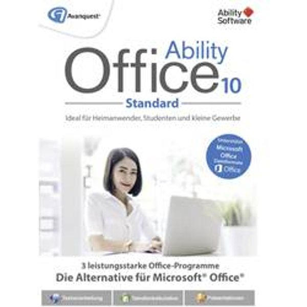 Avanquest Ability Office 10 Home version complète, 1 licence Windows Pack Office