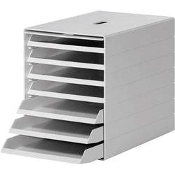 Durable Schubladenbox Idealbox Plus A4 7 Fächer grau