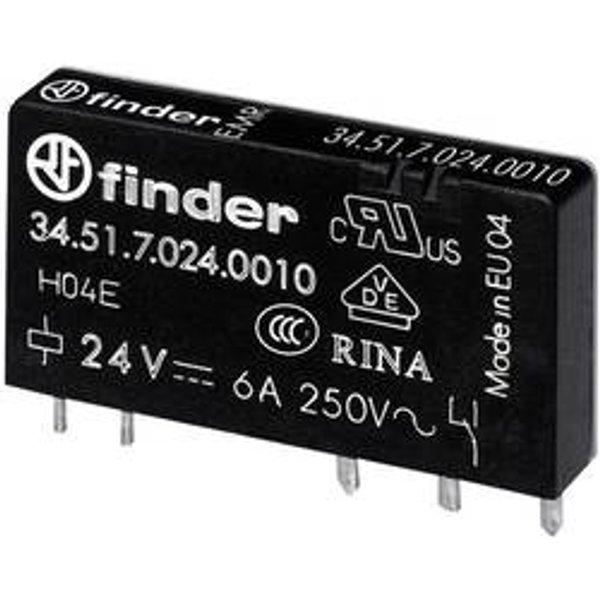 Relais pour circuits imprimés Finder 34.51.7.024.4010 34.51.7.024.4010 24 V/DC 6 A 1 inverseur (RT) 20 pc(s)