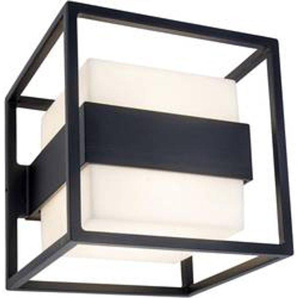 Cruz LED outdoor wall light, cube-shaped