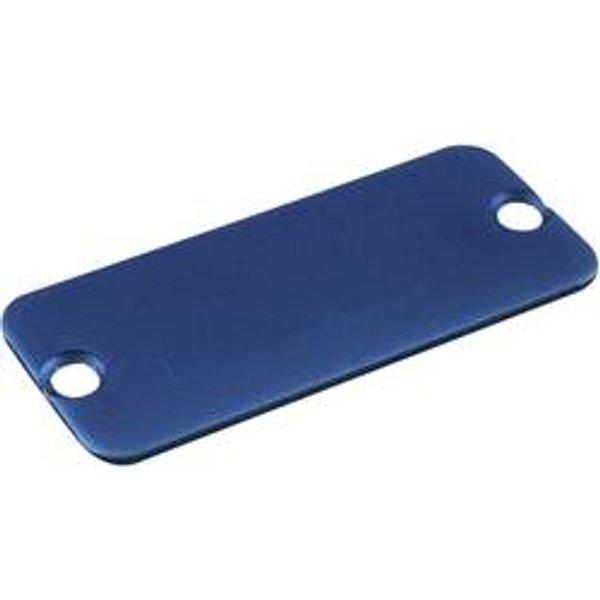 Plaque arrière Hammond Electronics 1455DALBU-10 aluminium bleu