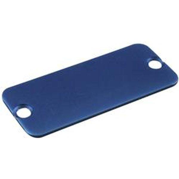 Plaque arrière Hammond Electronics 1455JALBU-10 aluminium bleu