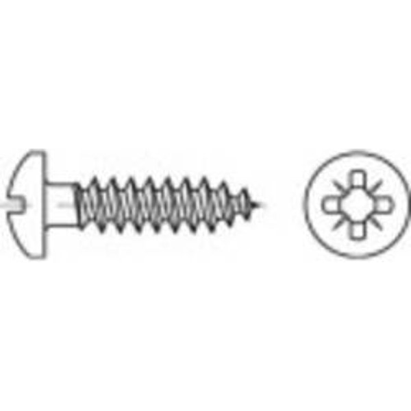 Vis semi-ronde 5 mm 35 mm cruciforme Pozidriv 88096 acier inoxydable A2 1000 pc(s) TOOLCRAFT 1069702