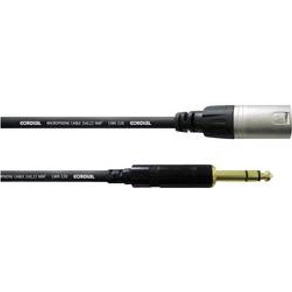 Cfm1.5mv - câble audio xlr mâle-jack stéréo mâle 1,5 m