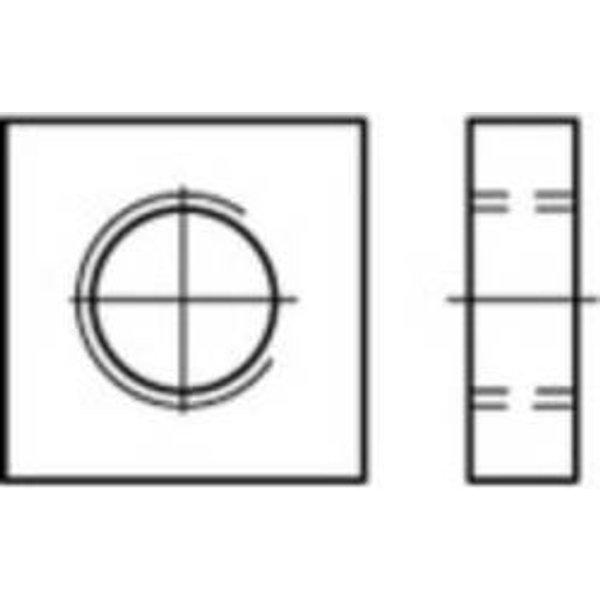 Écrou carré type bas M8 N/A TOOLCRAFT 109042 acier étamé par galvanisation 500 pc(s)
