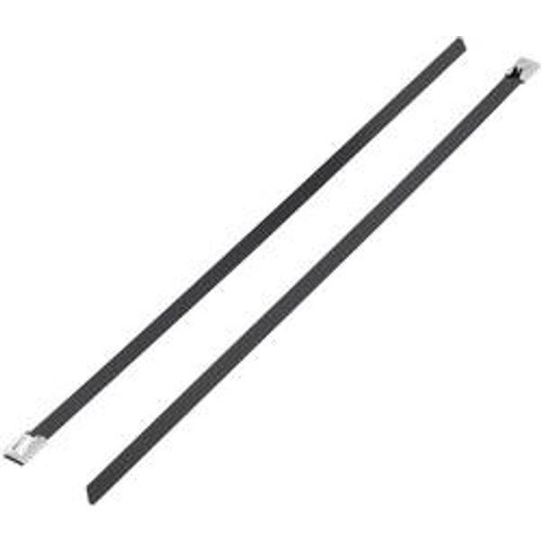 TRU Components 1592839 TC-BSTC-300203 Kabelbinder 300mm Schwarz mit Beschichtung 1St