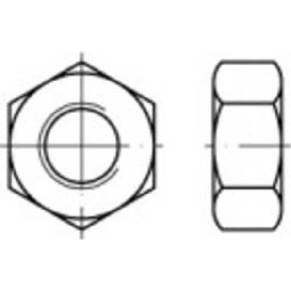 Écrou hexagonal avec filetage à gauche TOOLCRAFT 131809 N/A Acier 6 AU M8 100 pc(s)