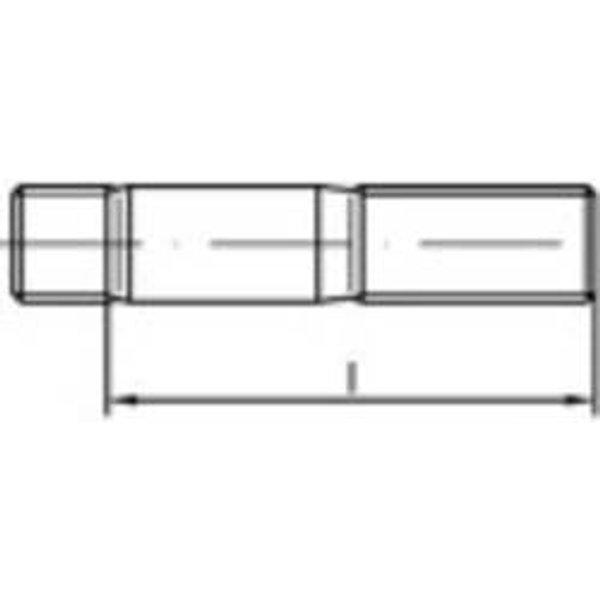 Goujon fileté TOOLCRAFT 132810 25 pc(s) M16 40 mm acier N/A