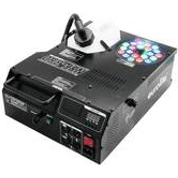 Machine à brouillard Eurolite NSF-350 LED Hybrid Spray Fogger avec télécommande sans fil, avec effet lumineux