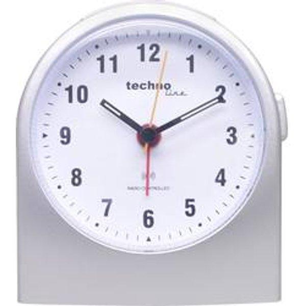 Techno Line WT 753 Funk Wecker Silber Alarmzeiten 1 Fluoreszierend Zeiger