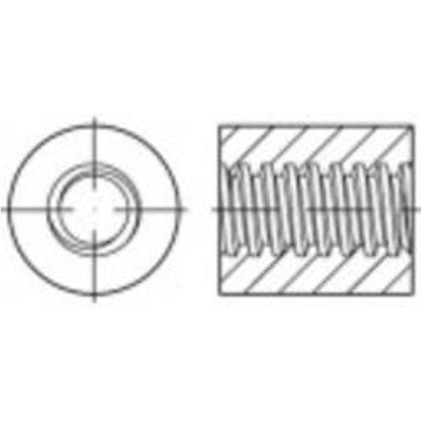 Écrou trapézoïdal rond TOOLCRAFT 157983 N/A 22 mm 33 mm Acier 1 pc(s)