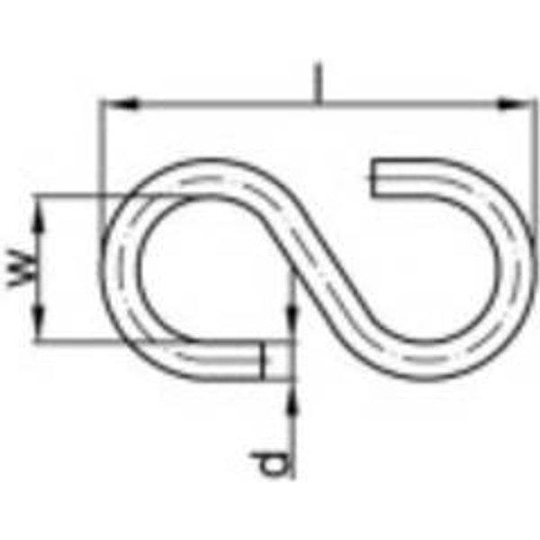 Crochets S Art. 45 Acier galvanisé 60mm 100pcs