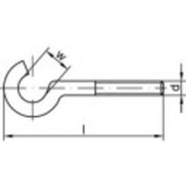 Crochet à visser courbé Q30894 - TOOLCRAFT