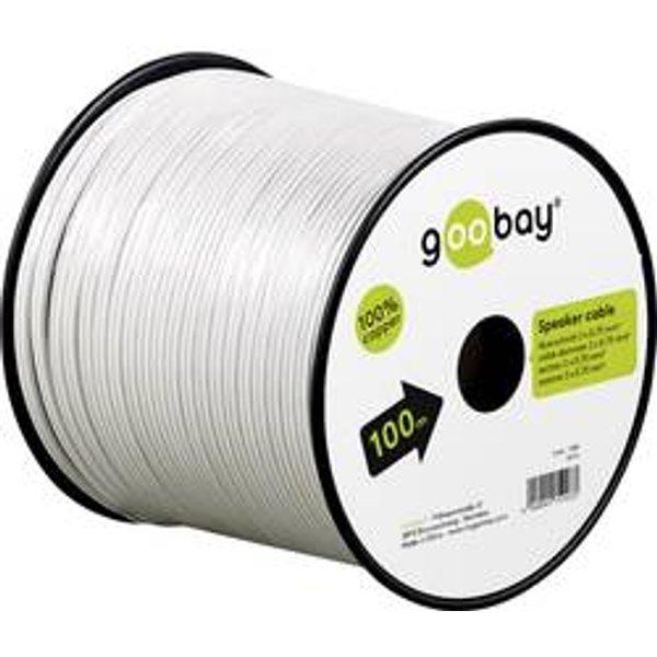 Câble haut-parleur Goobay 15115 2 x 1.50 mm² blanc 25 m