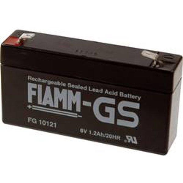 Fiamm PB-6-1,2-4,8 FG10121 Batterie au plomb 6 V 1.2 Ah plomb (AGM) (l x h x p) 97 x 58 x 54 mm connecteur plat 4,8 mm