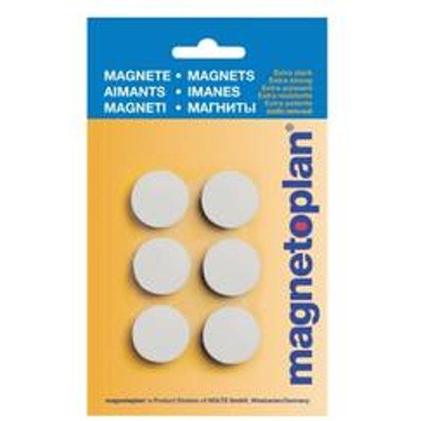 MAGNETOPLAN aimants de maintien MAGNETOPLAN hobby blanc, blister 6 pcs