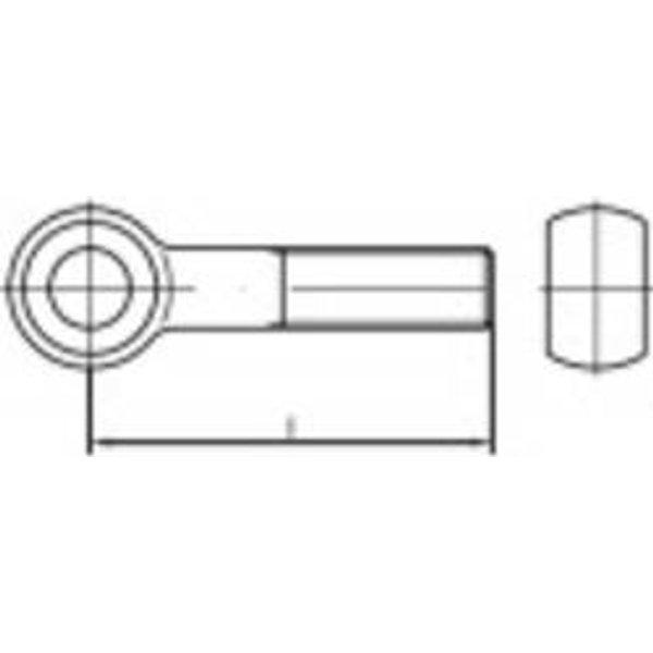TOOLCRAFT TO-5357625 Boulon à œillet M8 45 mm DIN 444 acier inoxydable A2 10 pc(s)