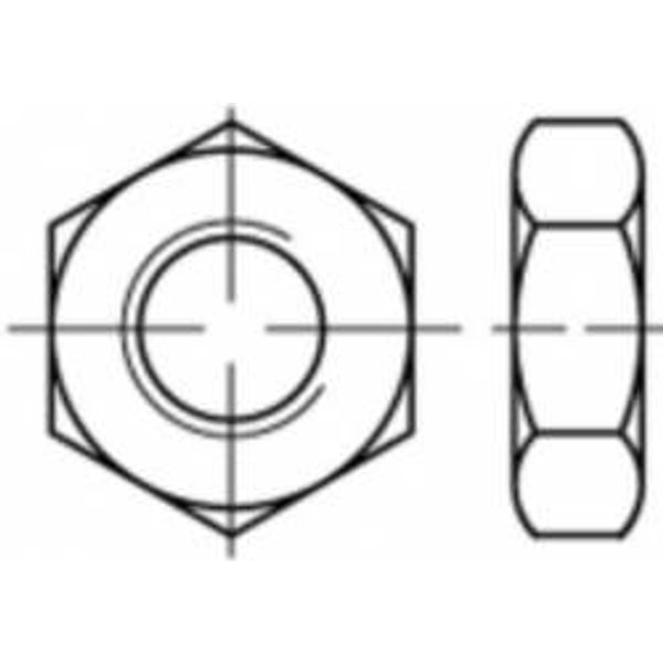 Écrou hexagonal M14 TOOLCRAFT TO-5371857 ISO 4035 acier inoxydable A4 25 pc(s)