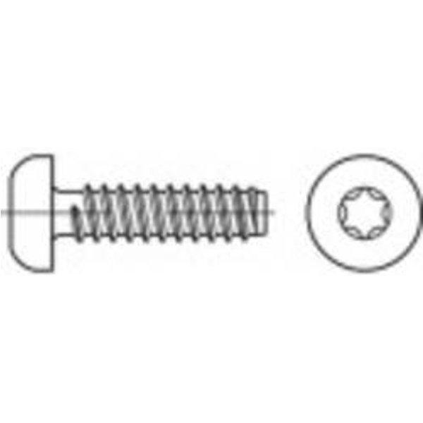 TOOLCRAFT TO-5441106 Blechschrauben 80mm Innensechsrund ISO 14585 Stahl galvanisch verzinkt 250St