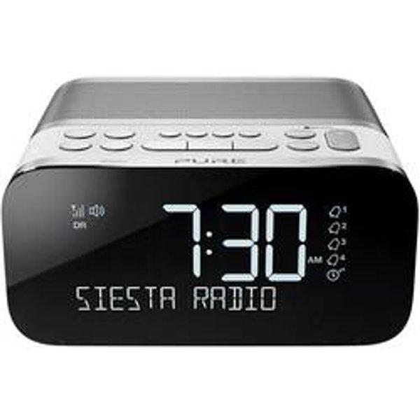 Siesta S6 DAB/DAB+/FM Bluetooth Bedside Clock Radio