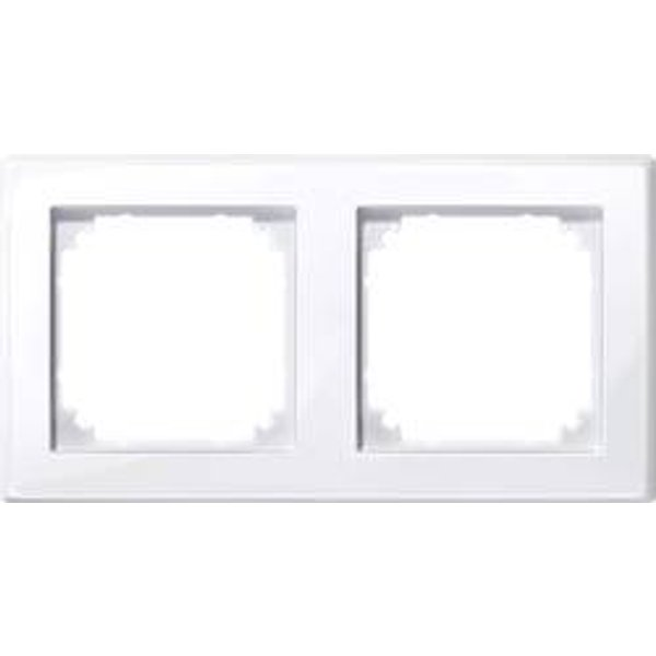 Merten Rahmen Abdeckung System M Weiß 478225