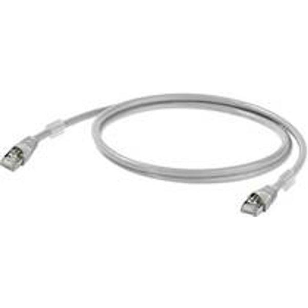 Câble de raccordement réseau RJ45 Weidmüller - [1x RJ45 mâle - 1x RJ45 mâle] - 35 m - gris certifié UL