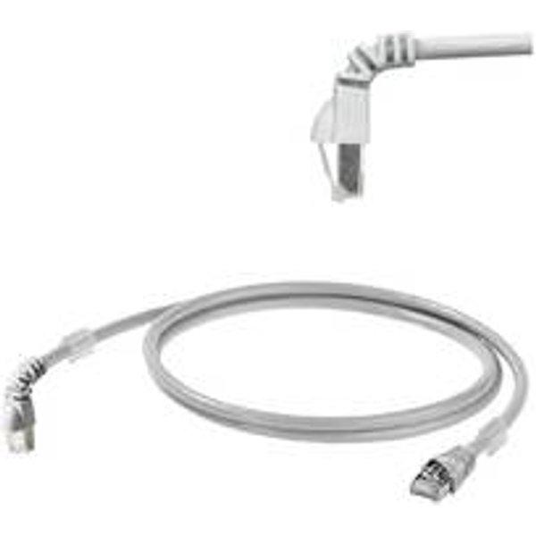 Câble de raccordement réseau RJ45 Weidmüller - [1x RJ45 mâle - 1x RJ45 mâle] - 3 m - gris certifié UL