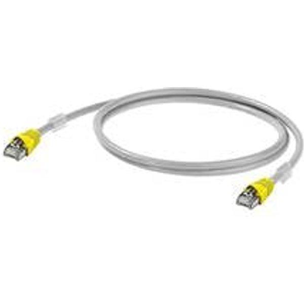 Câble de raccordement réseau RJ45 (croisé) Weidmüller IE-C6FP8LD0020X40X40-Y 1312160020 CAT 6A S/FTP 2 m gris très