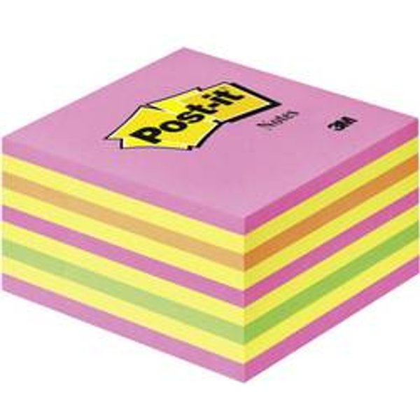 Post-it Notes adhésives en cube rose 76x76mm 450f feuilles