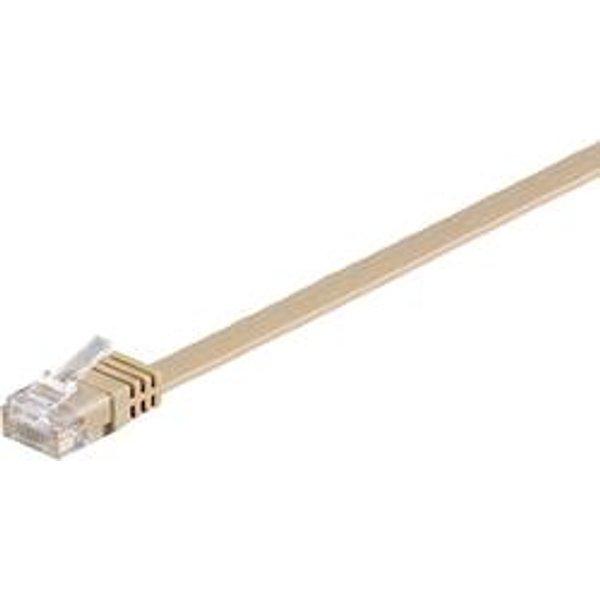 Câble réseau extra-plat CAT 6 U/UTP - 95881 - 10 m - marron clair - [1x RJ45 mâle - 1x RJ45 mâle]