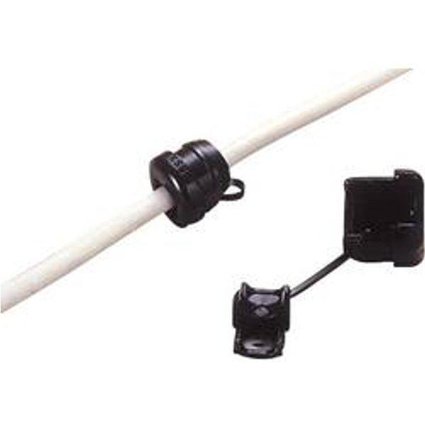 TRU Components TC-SR-F21203 Zugentlastung Klemm-Ø (max.) 5.3mm Schwarz
