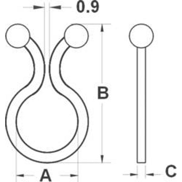 TRU Components 1593078 TC-TT05-20203 Kabeldriller Natur 20St