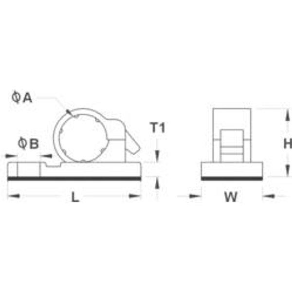 TRU Components 1593032 TC-6JR-S203 Befestigungssockel selbstklebend Schwarz