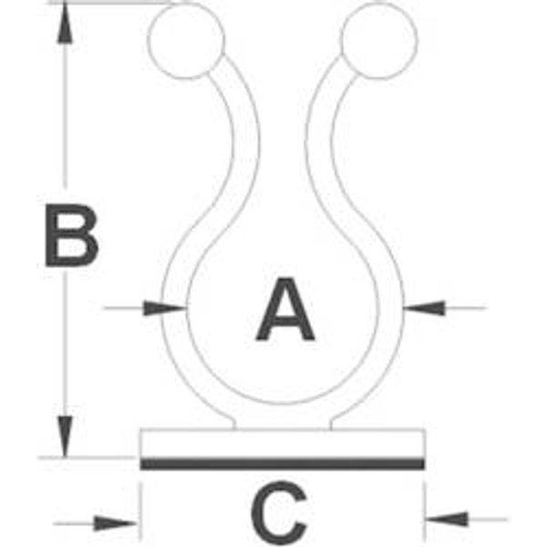 TRU Components 1593028 TC-TTB08203 Kabeldriller selbstklebend Natur 1St