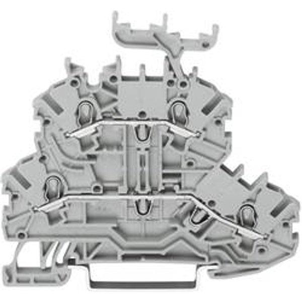 Bloc de jonction traversant à 2 étages WAGO 2000-2201 3.50 mm ressort de traction Affectation des prises: L, L gris 1