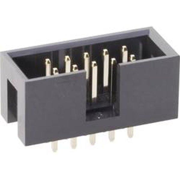 TRU COMPONENTS Stiftleiste ohne Auswurfhebel Rastermaß: 2.54 mm Polzahl Gesamt: 10 Anzahl Reihen: 2 1 St
